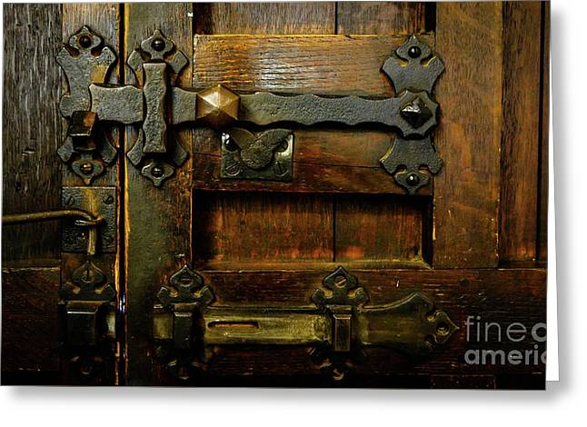Locked And Bolted Greeting Card by Lexa Harpell