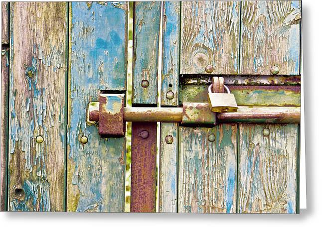 Locked And Bolted  Greeting Card