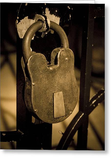 Locked Away Greeting Card by Christi Kraft