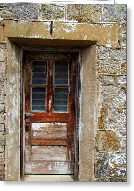 Locked Door At Eastern State Penitentiary Greeting Card by Scott Kwiecinski