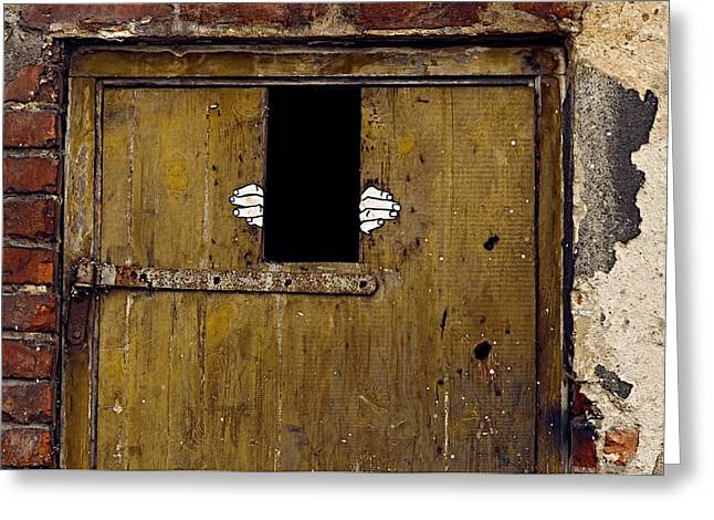 Locked In Emptiness Greeting Card by Tgchan