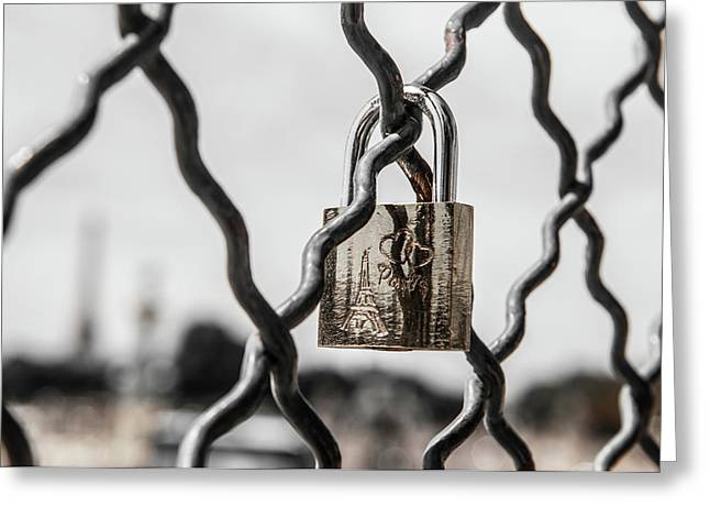 Locked In Paris Greeting Card