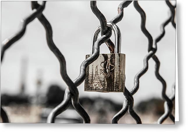 Locked In Paris Greeting Card