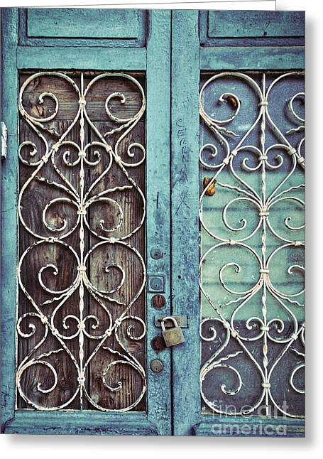 Locked Out Greeting Card by Ana V Ramirez