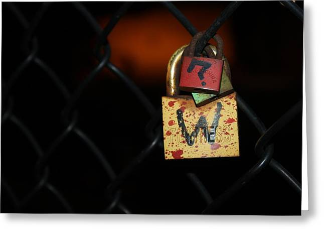 Question Mark Greeting Cards - Locked Questions Greeting Card by Lauri Novak