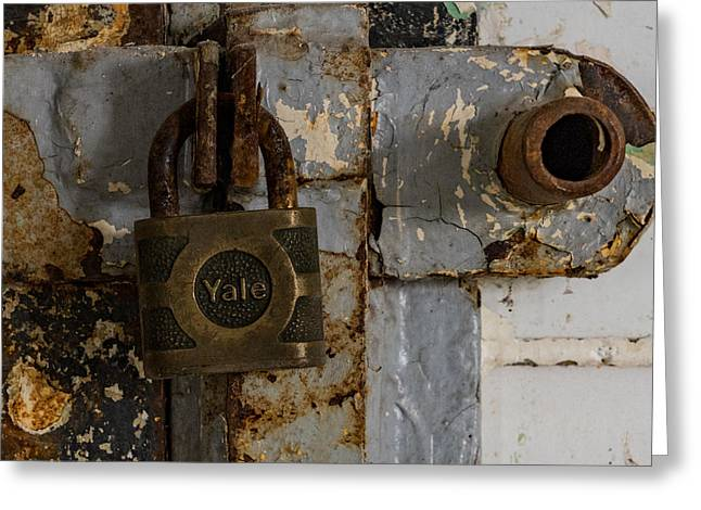 Locked Tight Greeting Card by Denise McKay