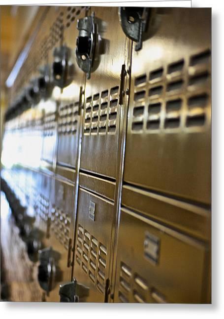 Lockers Greeting Card by Bill Owen