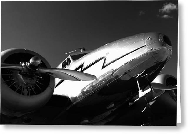 Lockheed 12a Electra Junior 1936 - I Greeting Card by Maxwell Amaro