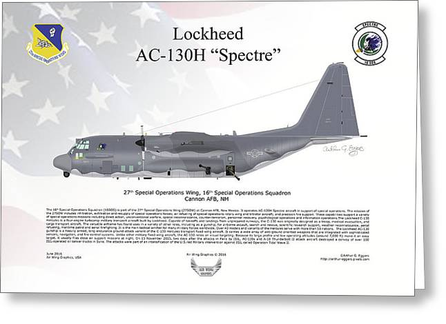 Lockheed Ac-130h Spectre Greeting Card