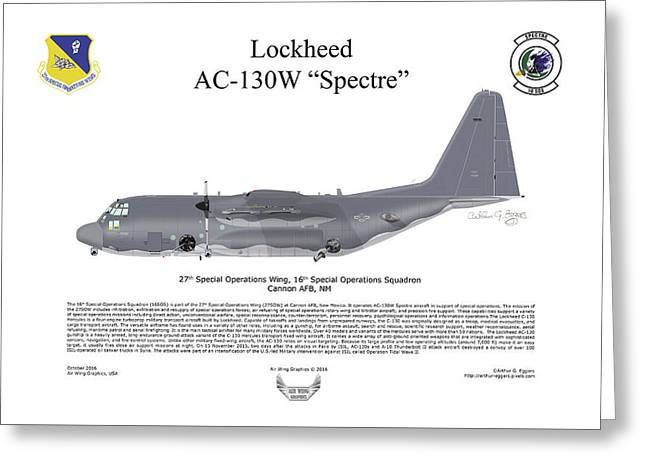 Lockheed Ac-130w Spectre Greeting Card