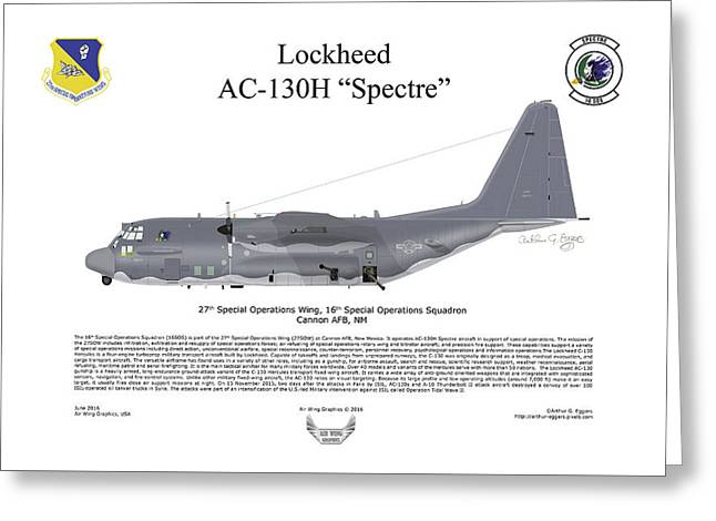 Lockheed Av-130h Spectre Greeting Card