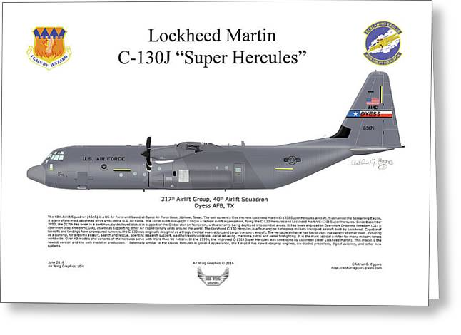 Lockheed Martin C-130j-30 Super Hercules Greeting Card