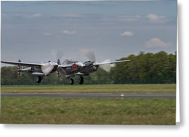 Lockheed P-38 Lightning Greeting Card
