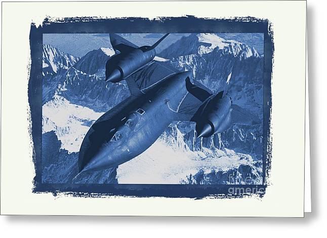 Lockheed Sr-71 Blackbird Greeting Card by Raphael Terra