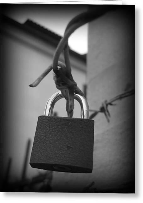 Locking Love Greeting Card by Haley Evans