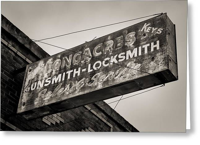 Locks And Guns Greeting Card by Stephen Stookey