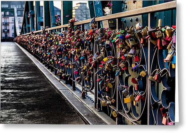 Locks Of Lock Bridge Greeting Card