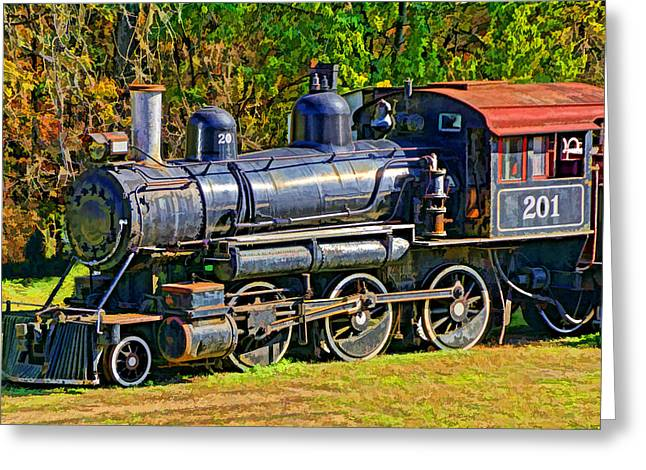 Locomotive 201 Greeting Card by Dennis Cox WorldViews