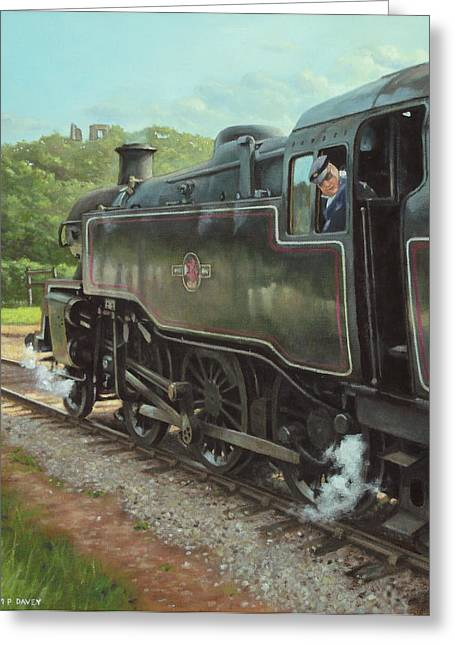 Locomotive At Swanage Railway Greeting Card
