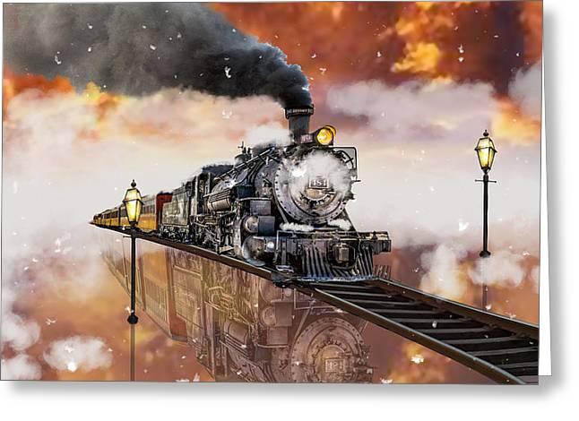 Locomotive Breath Railway Greeting Card