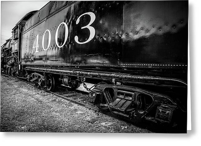 Locomotive Engine Greeting Card