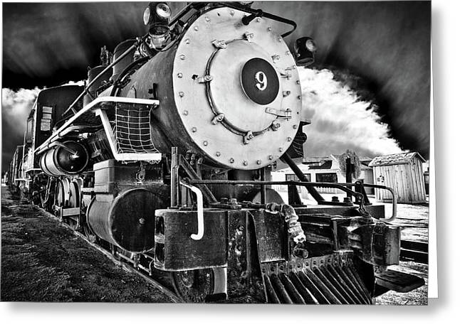 Locomotive Nine Greeting Card by Marius Sipa