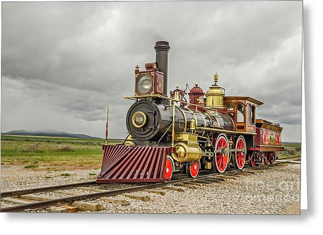 Greeting Card featuring the photograph Locomotive No. 119 by Sue Smith