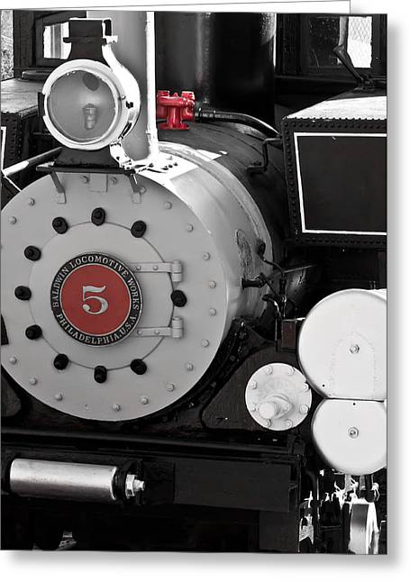 Locomotive Number Five Greeting Card