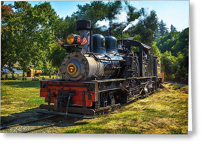 Locomotive Number Seven Greeting Card by Garry Gay