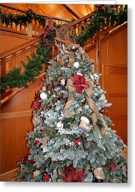 Lodge Lobby Tree Greeting Card