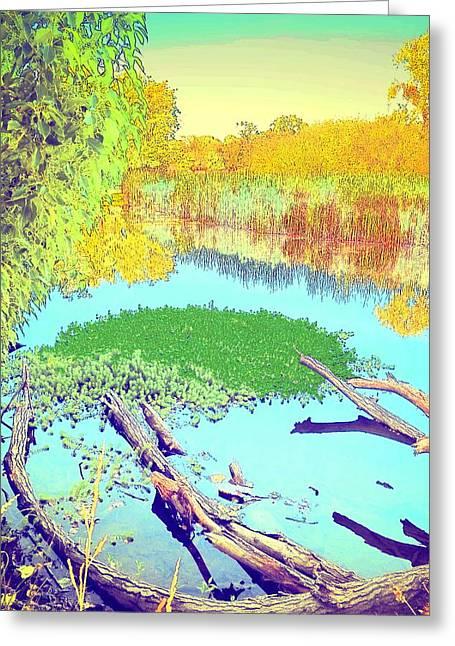 Lodi Lake Watercolor Four Greeting Card