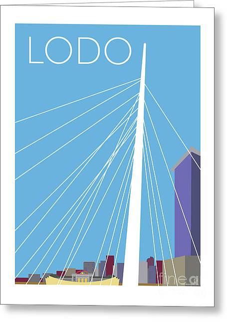 Lodo/blue Greeting Card