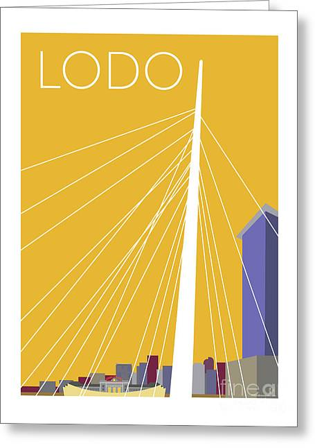 Lodo/gold Greeting Card