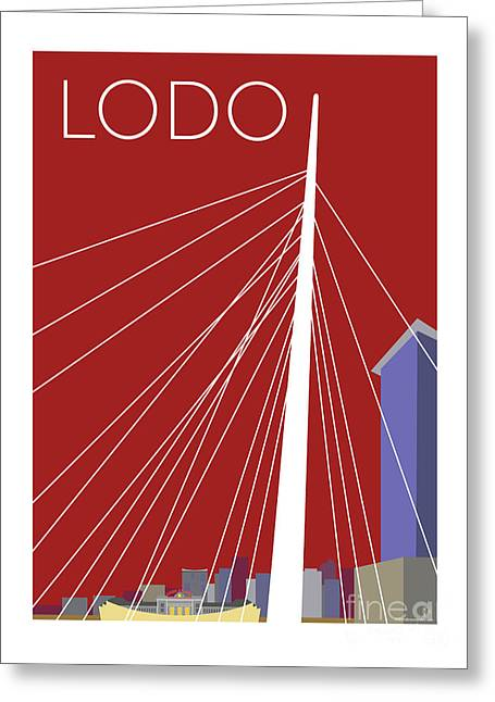 Greeting Card featuring the digital art Lodo/maroon by Sam Brennan