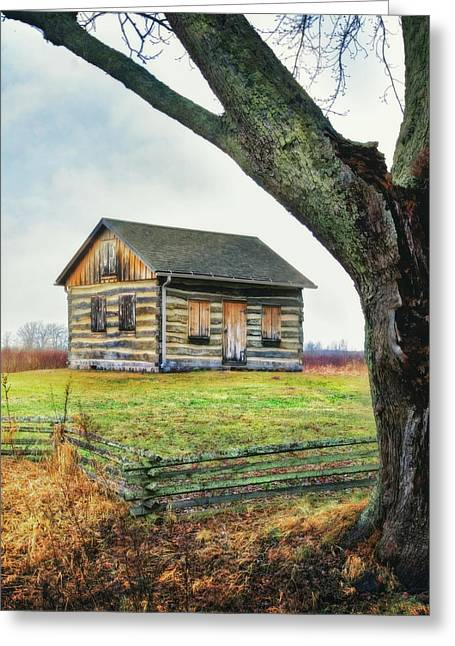 Log Cabin - Paradise Springs - Kettle Moraine State Forest Greeting Card by Jennifer Rondinelli Reilly - Fine Art Photography
