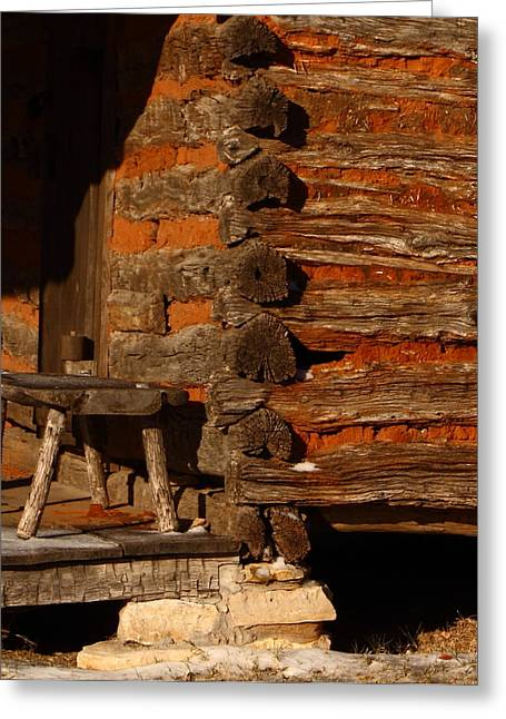 Cabin Wall Greeting Cards - Log Cabin Greeting Card by Robert Frederick