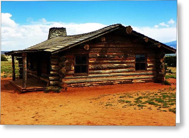 Log Cabin Yr 1800 Greeting Card
