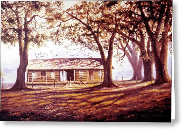 Log House On 421 Greeting Card