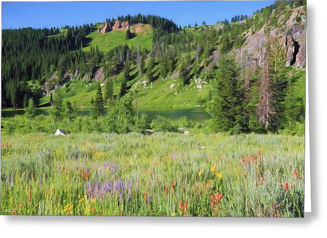 Logan Canyon Greeting Card by Donna Kennedy