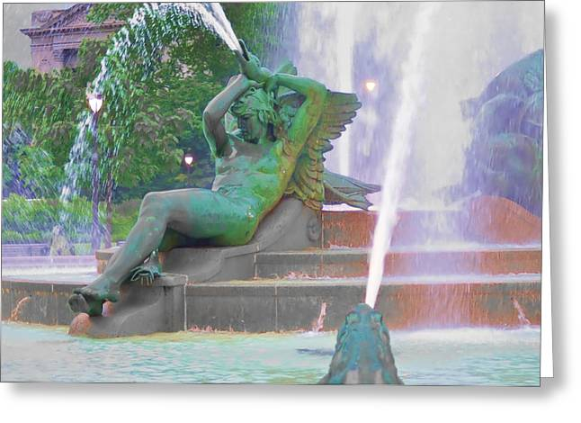 Logan Circle Fountain 4 Greeting Card