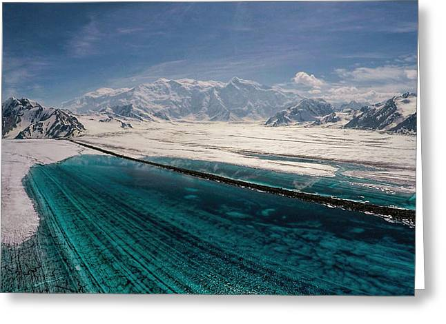 Logan Glacier Meltwater Greeting Card