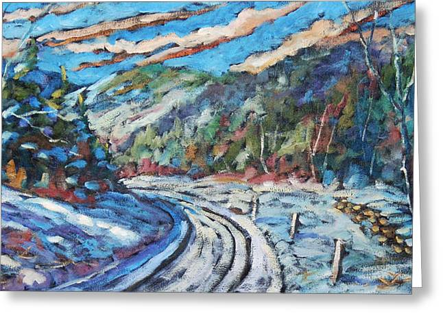 Logger Greeting Cards - Loggers Road  Greeting Card by Richard T Pranke
