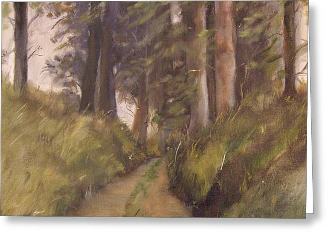 Logging Road Greeting Card