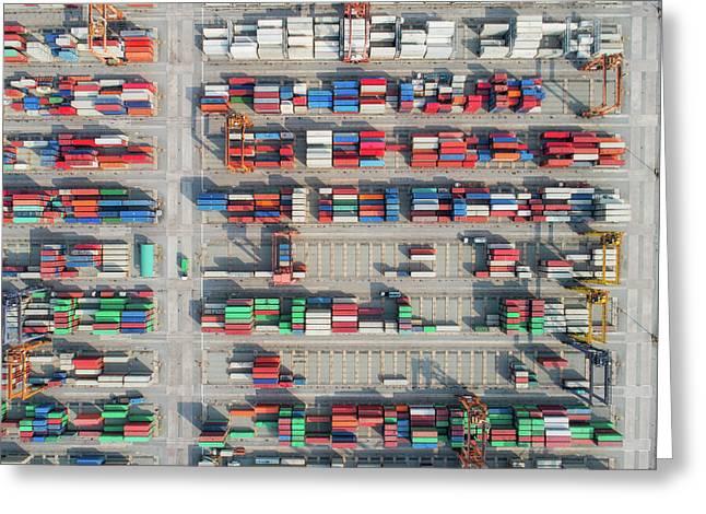 Logistic Hub Greeting Card by Anek Suwannaphoom