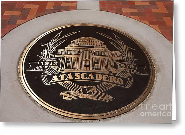 Logo At Atascadero City Hall Greeting Card