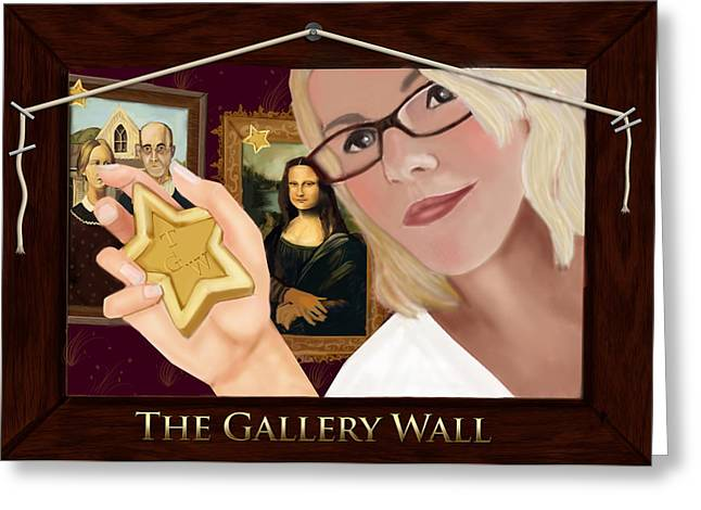 Logo For The Gallery Wall  Greeting Card