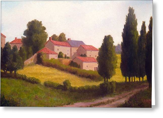 Loire Valley Apres Midi Greeting Card by David Olander