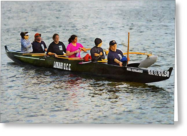 Lokahi Outrigger Canoe Club Greeting Card