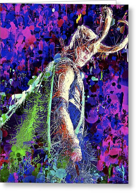 Greeting Card featuring the mixed media Loki Ready For War by Al Matra