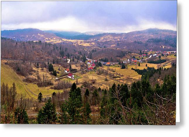 Lokve Valley In Gorski Kotar View Greeting Card